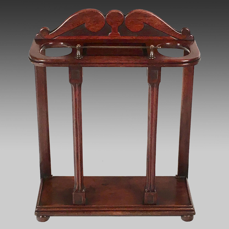 19th century padouk stick stand
