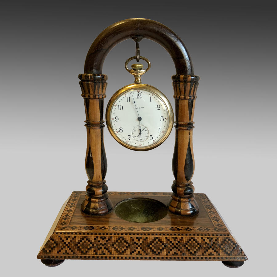 Antique 19th century Tunbridgeware watch stand