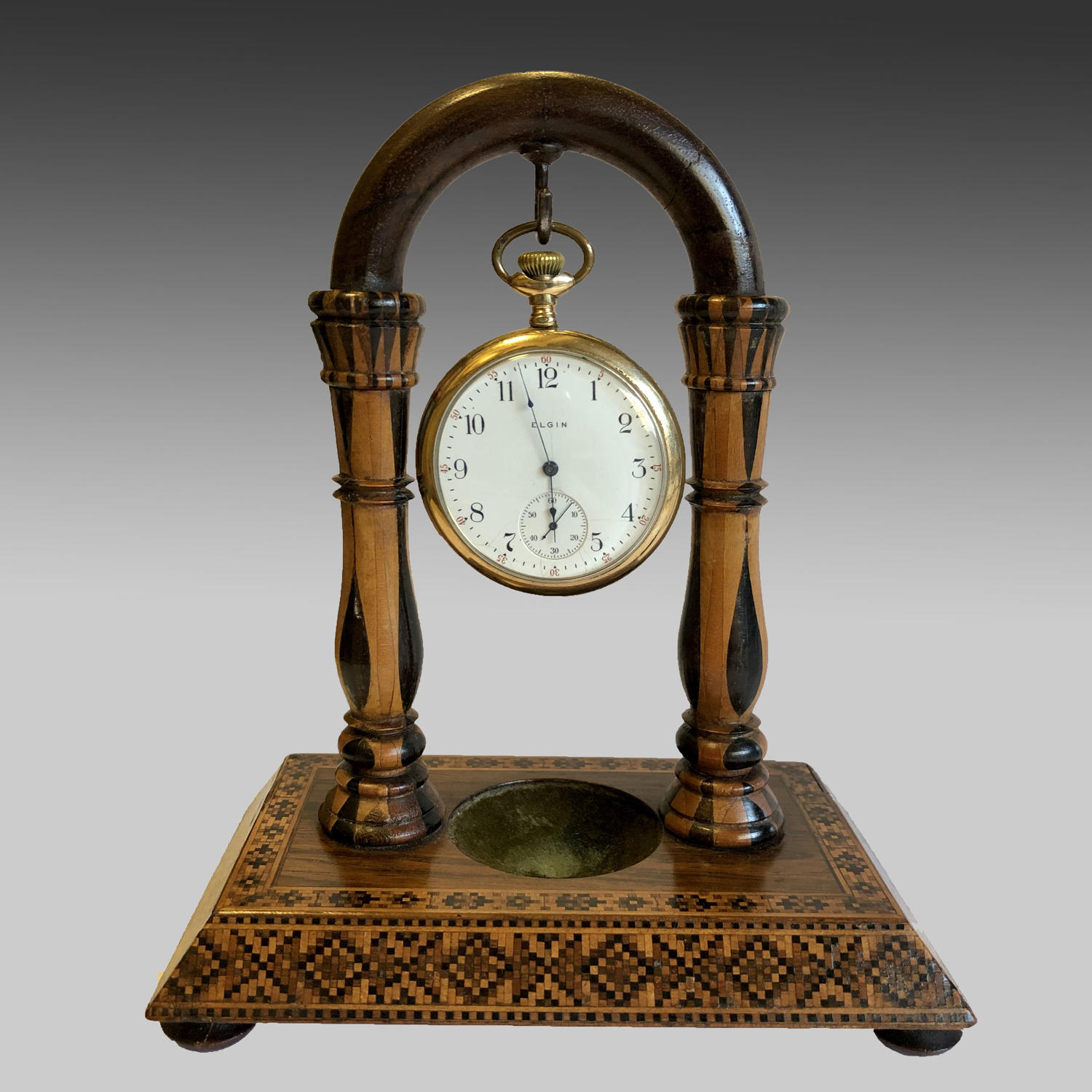 Antique 19th century Tunbridgeware watch stand
