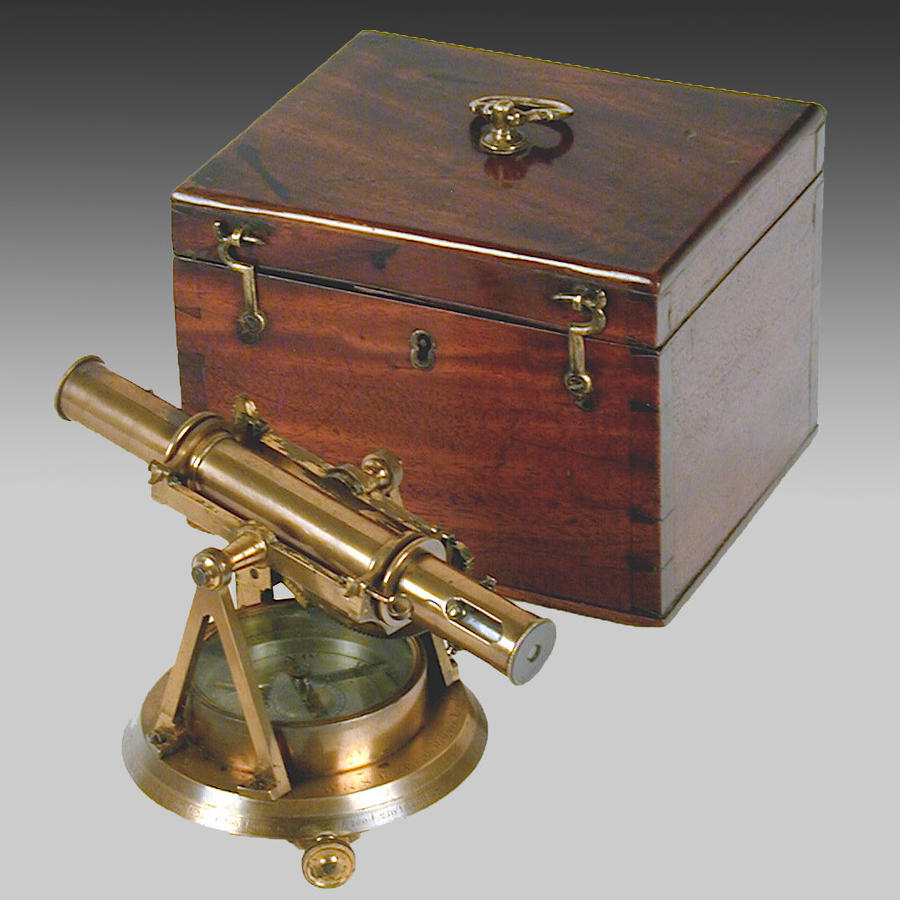 19th century surveyor's theodolite