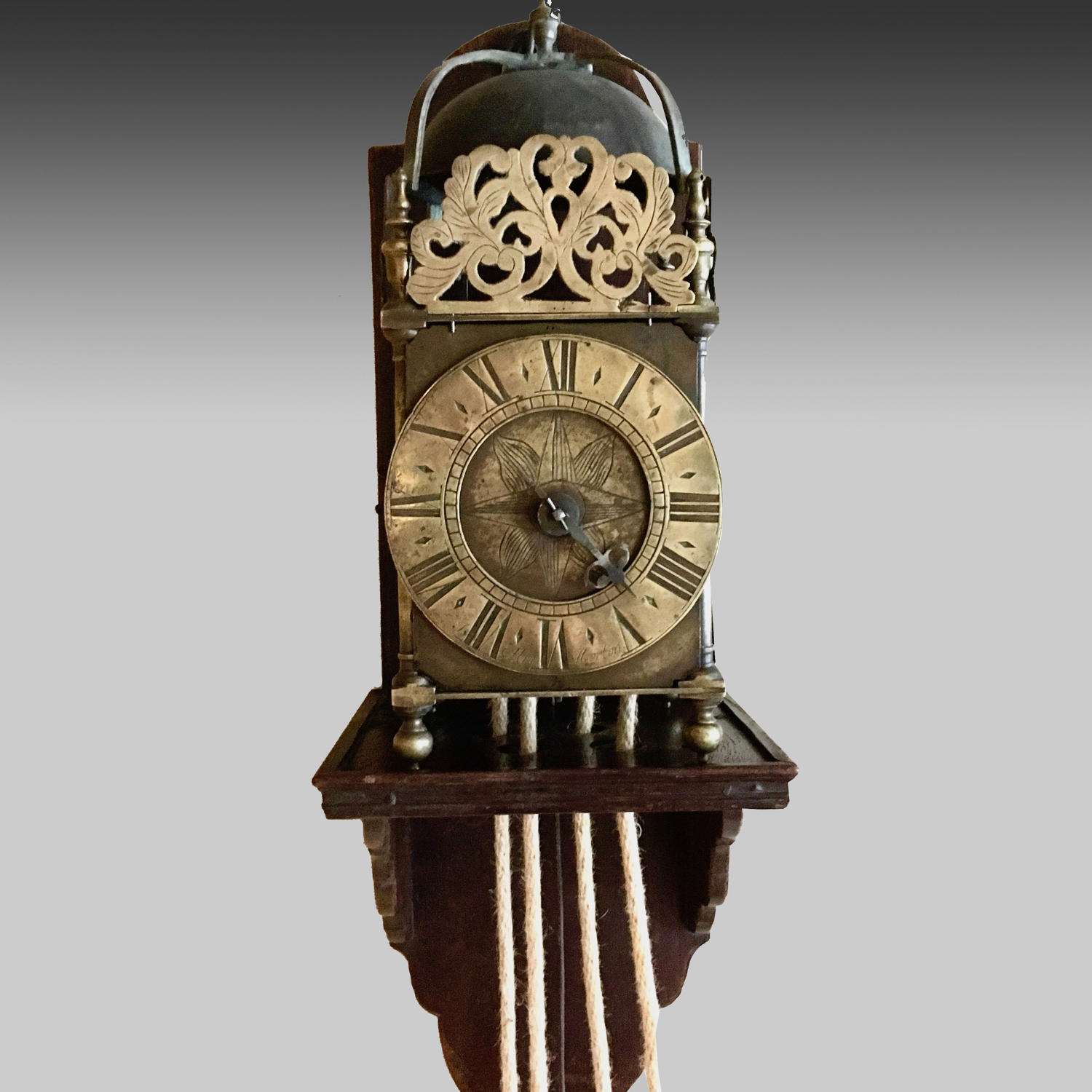 18th century brass lantern clock