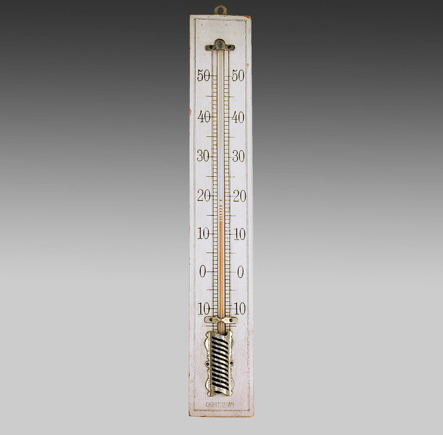 19th century French wall-hanging thermometer