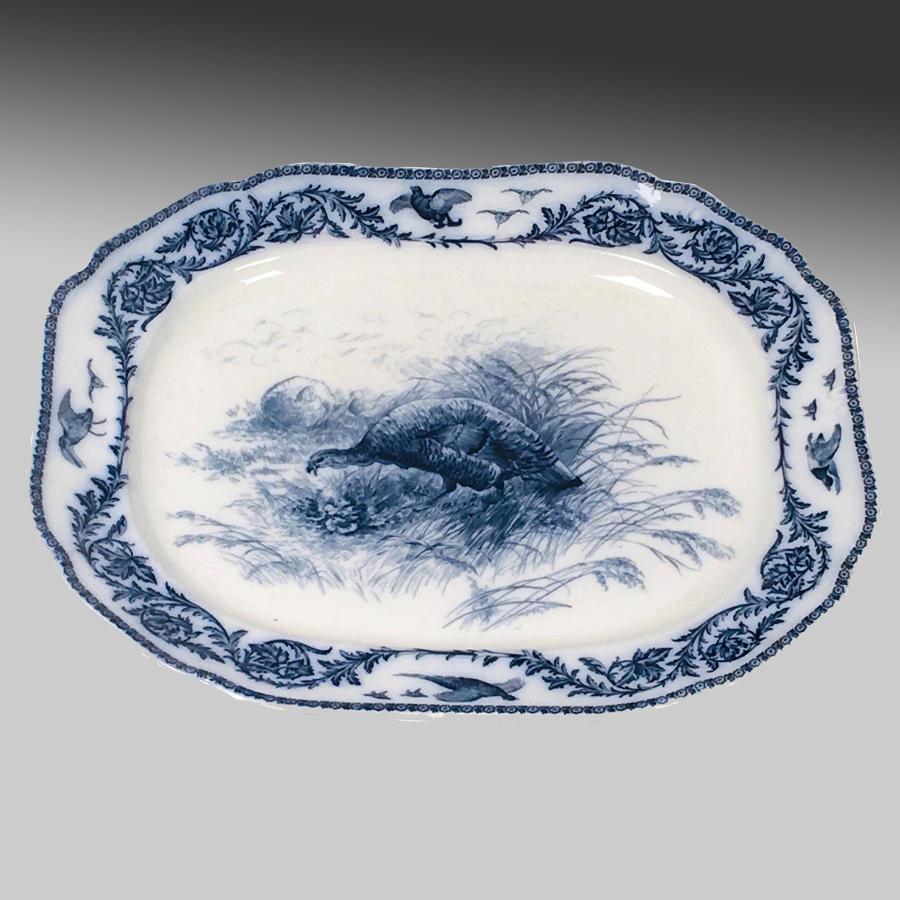 Antique Cauldon Staffordshire semi-porcelain carving platter