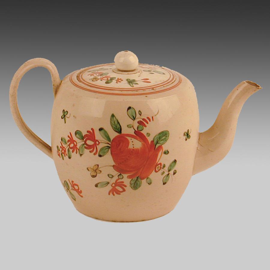 18th century creamware teapot