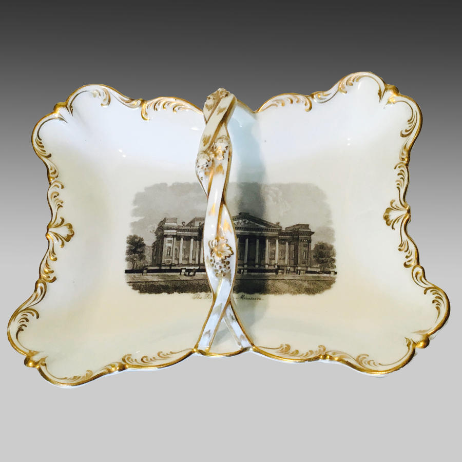 19th century continental porcelain bonbon dish