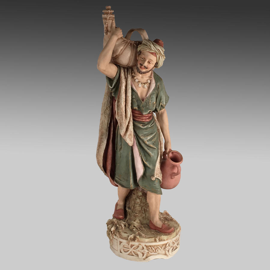 Antique Bohemian Royal Dux figure 'The Water Carrier'