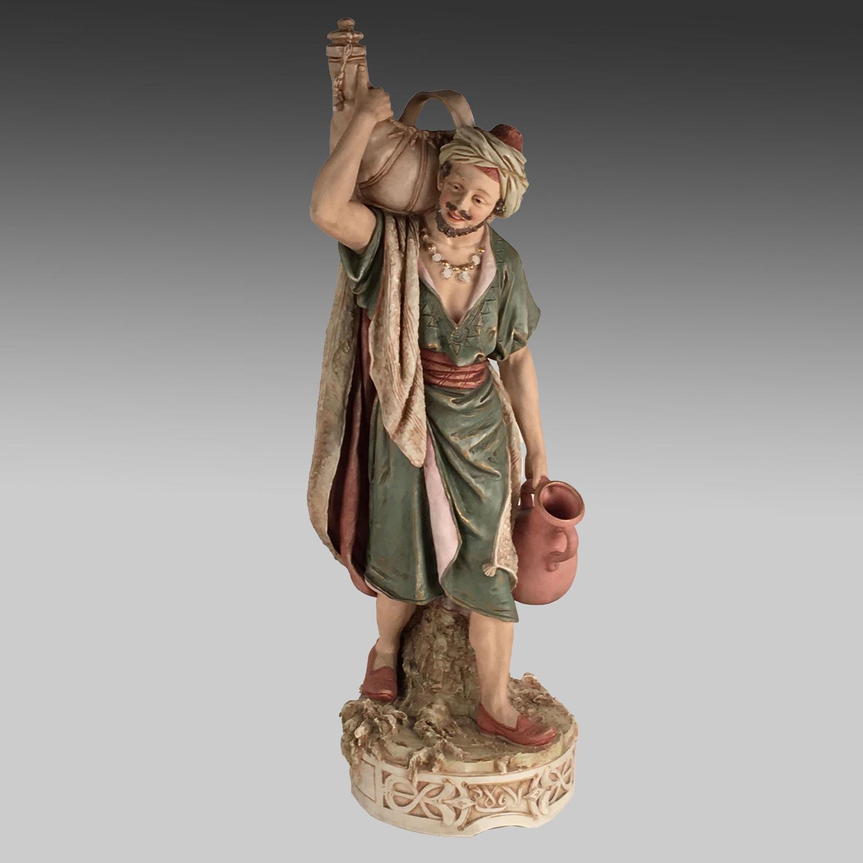 Antique Bohemian Royal Dux figure 'The Water Carrier'