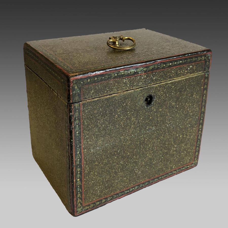 Sheraton papier maché tea caddy