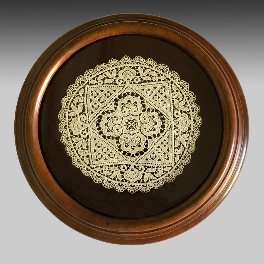 Victorian walnut table coaster