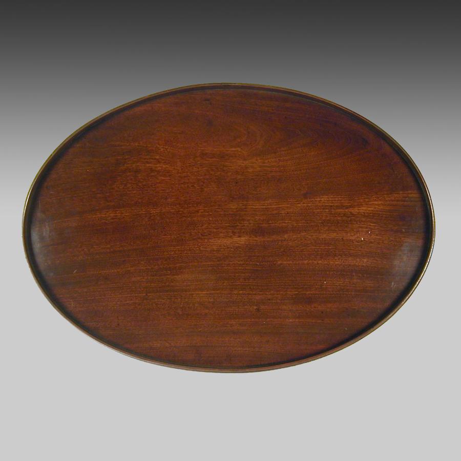 Georgian mahogany oval tray