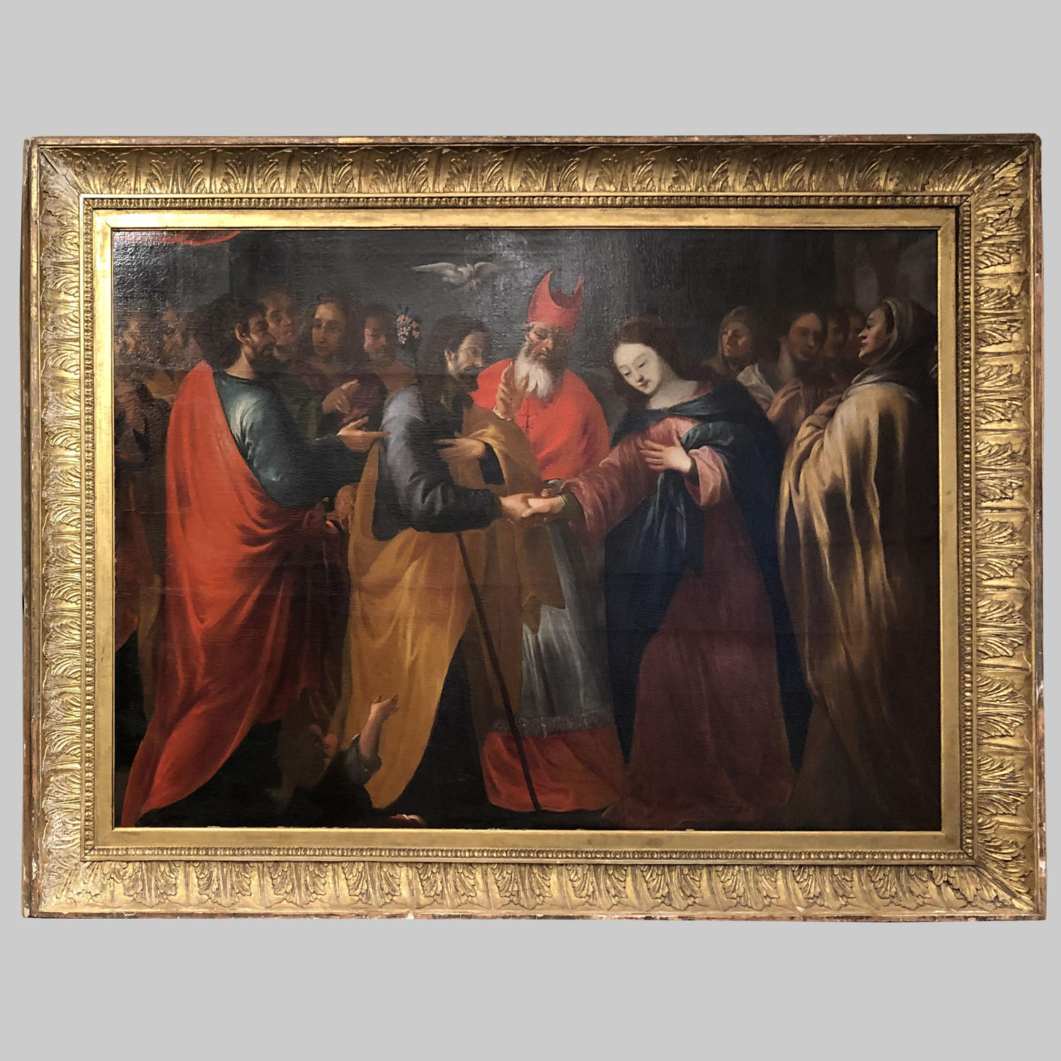 Oil painting on canvas - The Marriage of the Virgin