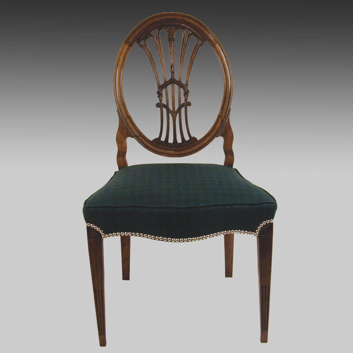 Continental antique mahogany side chair
