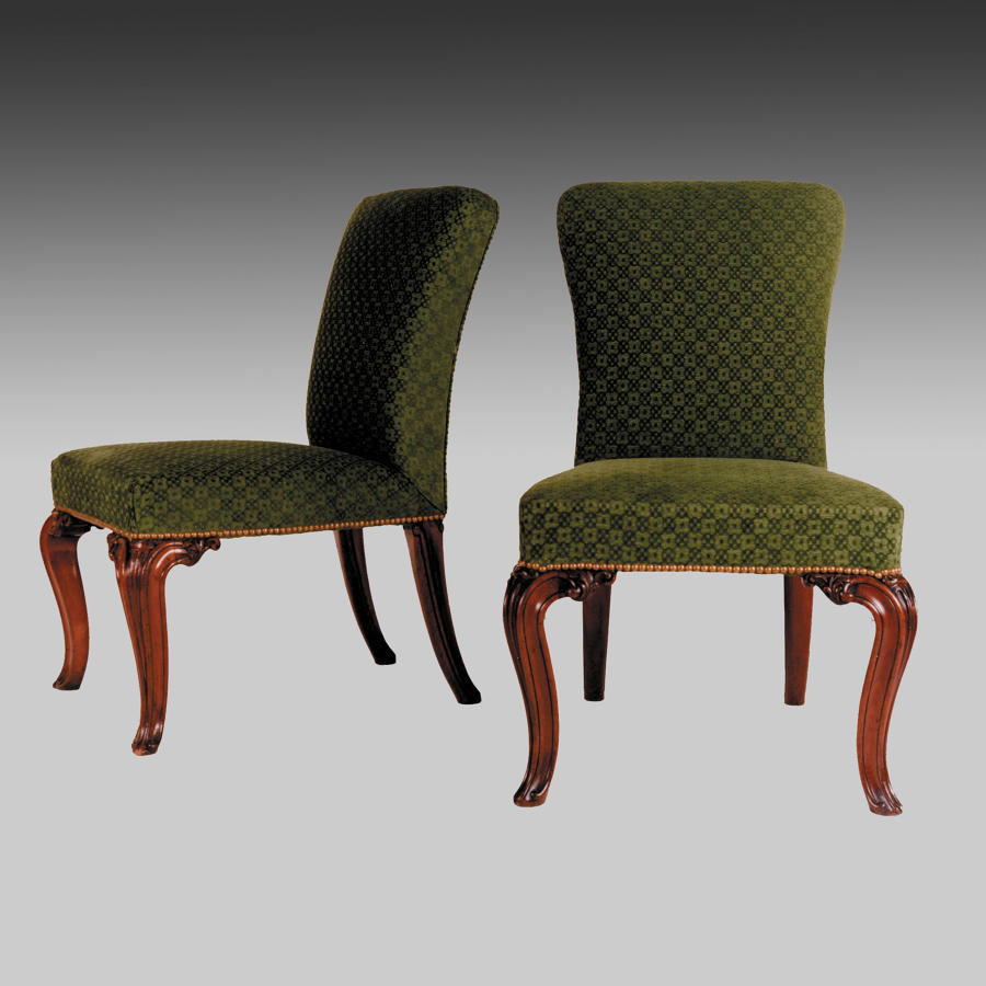 Pair of mid Georgian side chairs