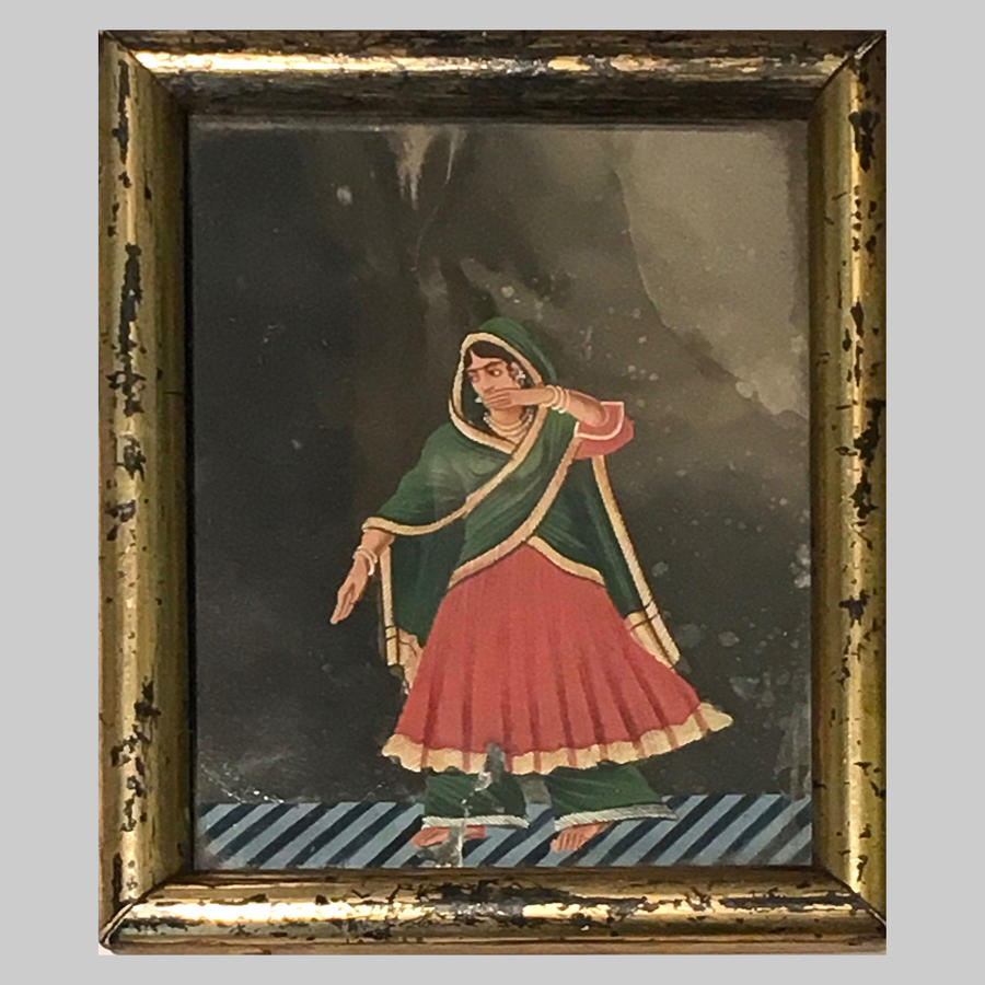 Five Indian antique gouache 'Company' Paintings on mica