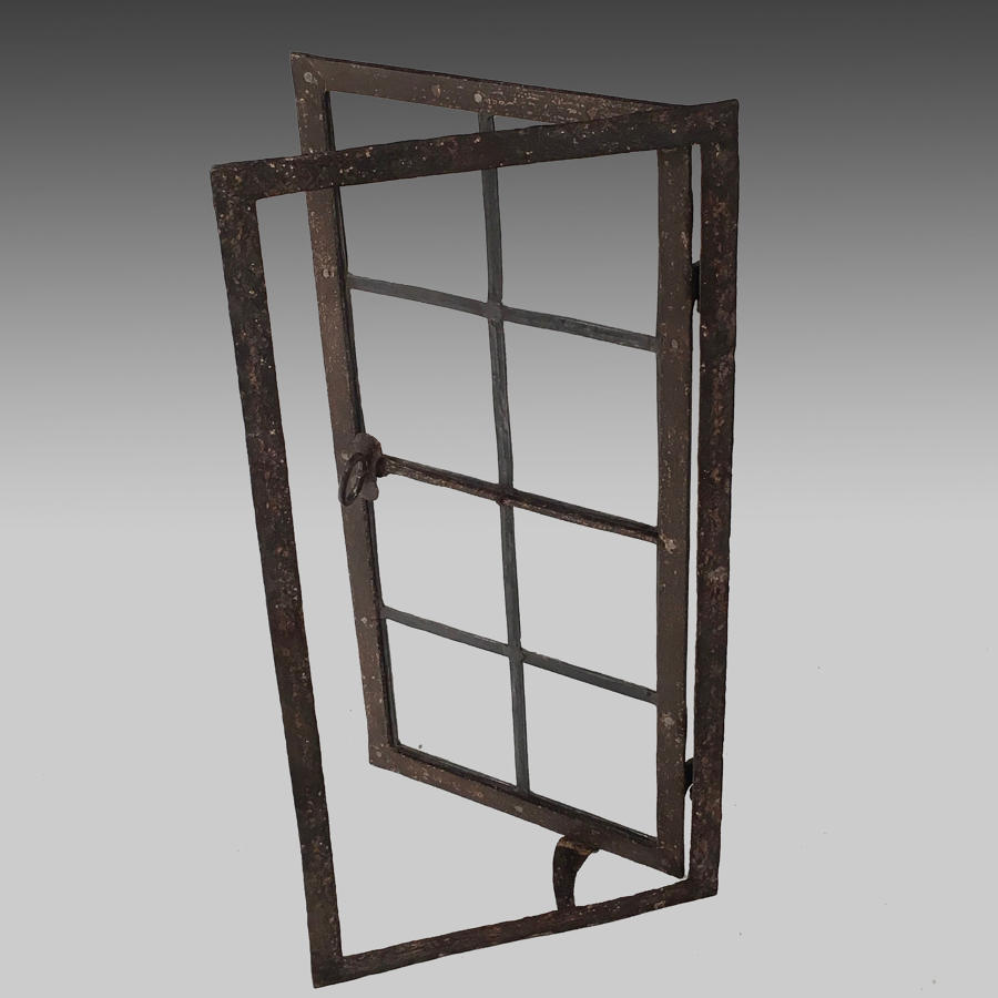 17th century wrought iron window frame