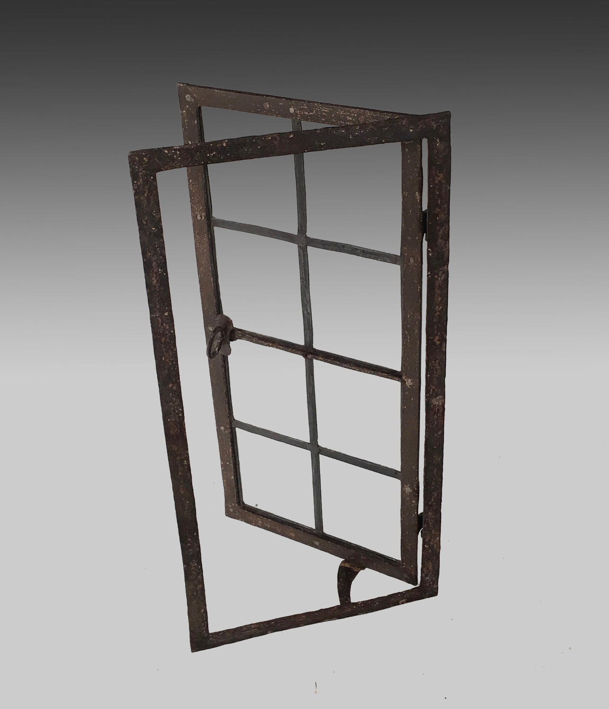 17th century wrought iron window frame