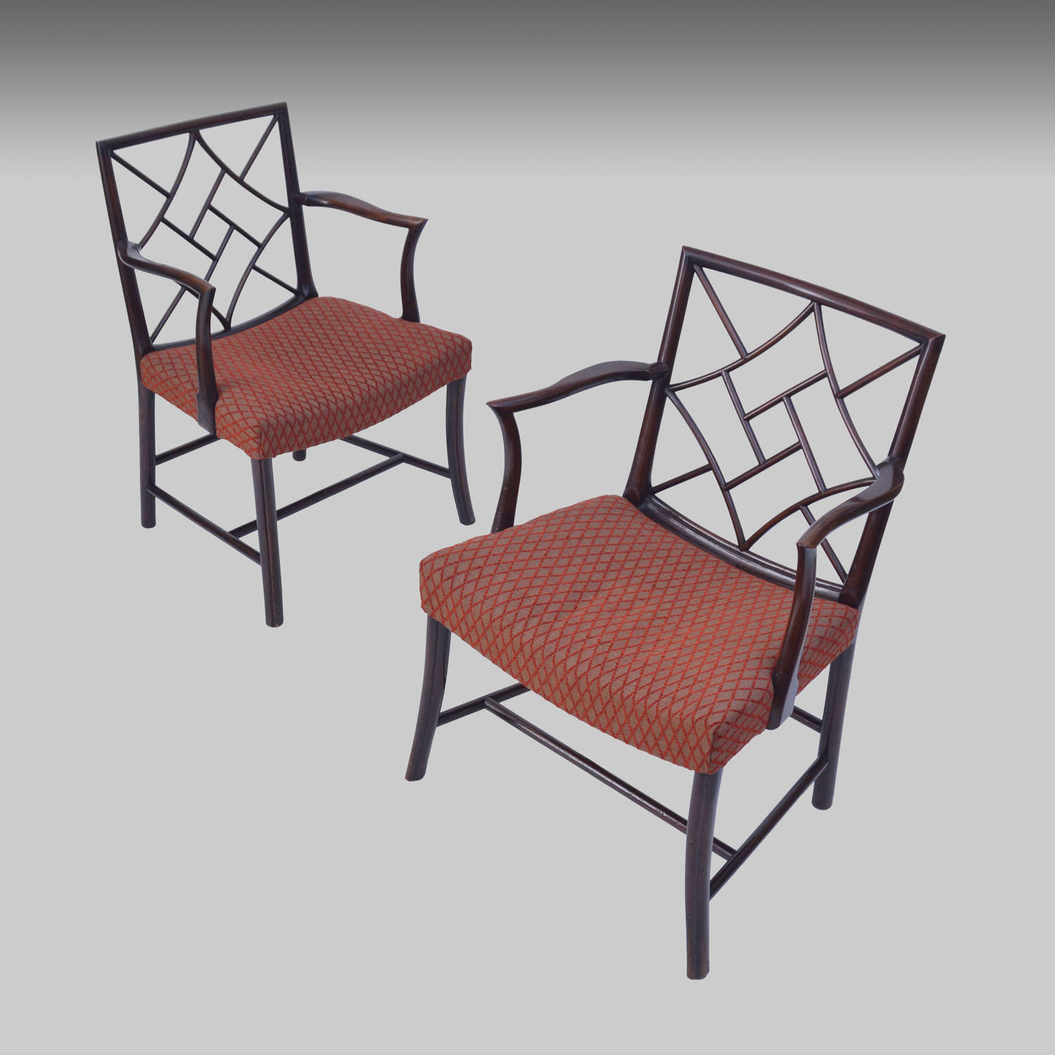 Two mahogany 19th century Cockpen armchairs