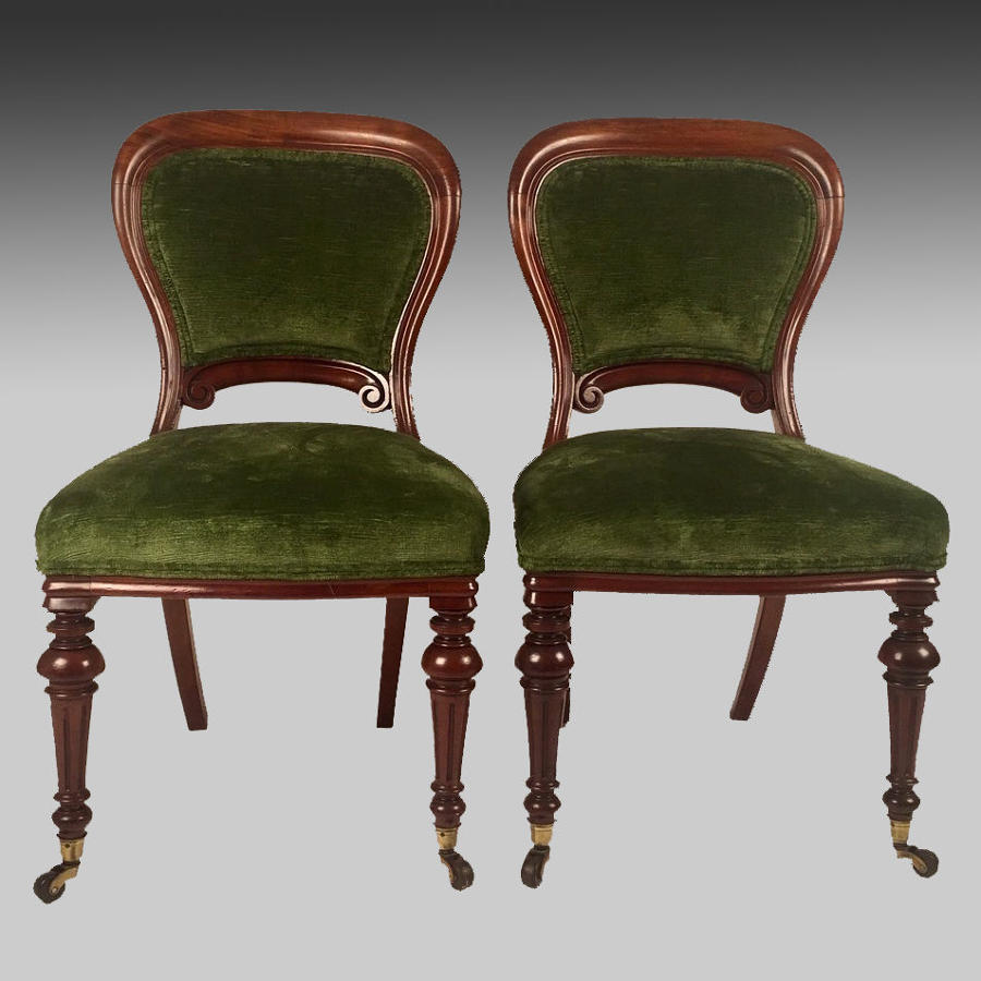 Pair of antique mahogany framed chairs