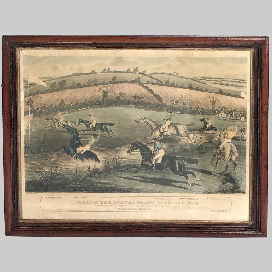 Aquatint Engraving Cheltenham Annual Grand Steeplechase