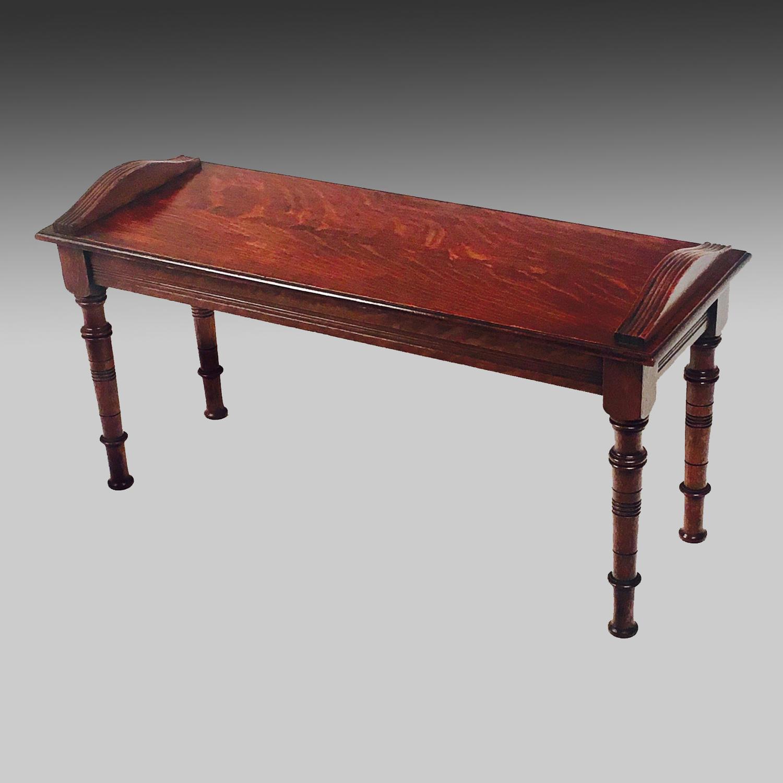 Aesthetic Movement oak bench or window seat