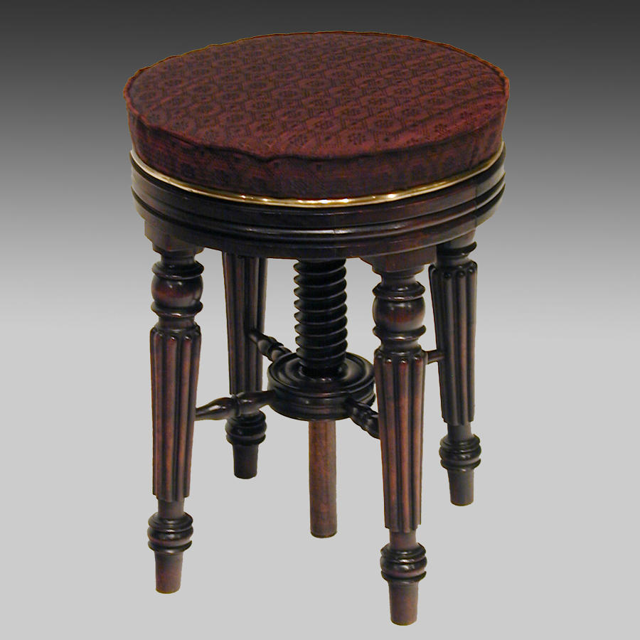 Antique Regency rosewood music stool