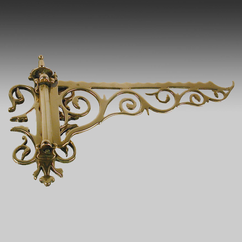 19thc century cast brass gale hook