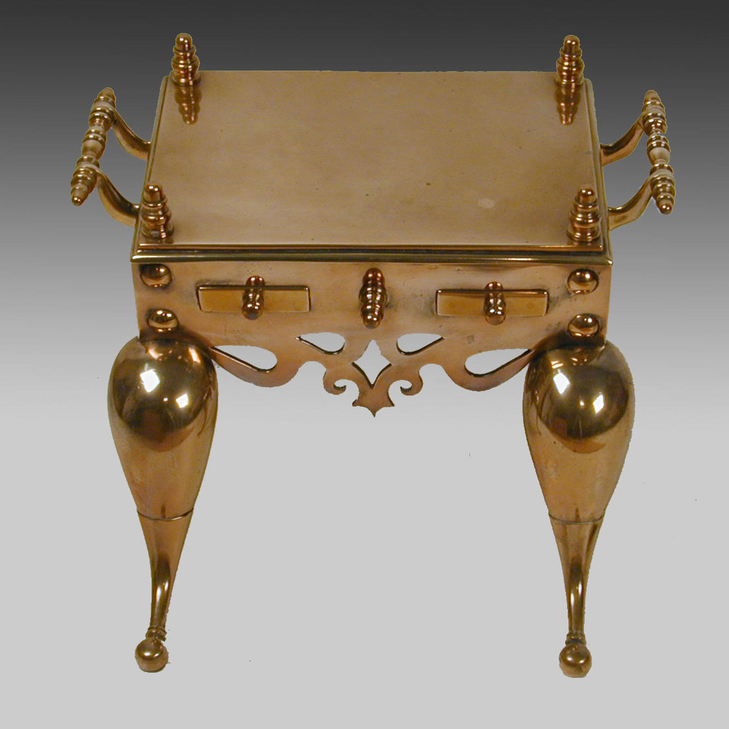 Cast brass footman or hearth trivet