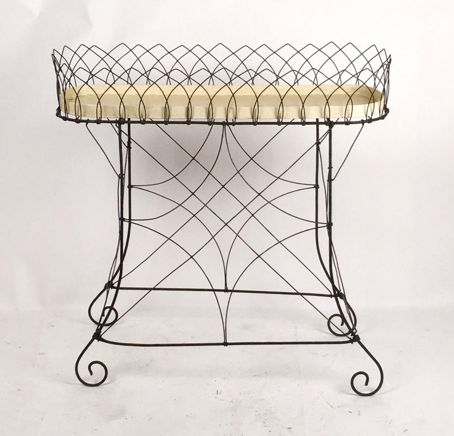 Antique Victorian wirework jardiniere or planter