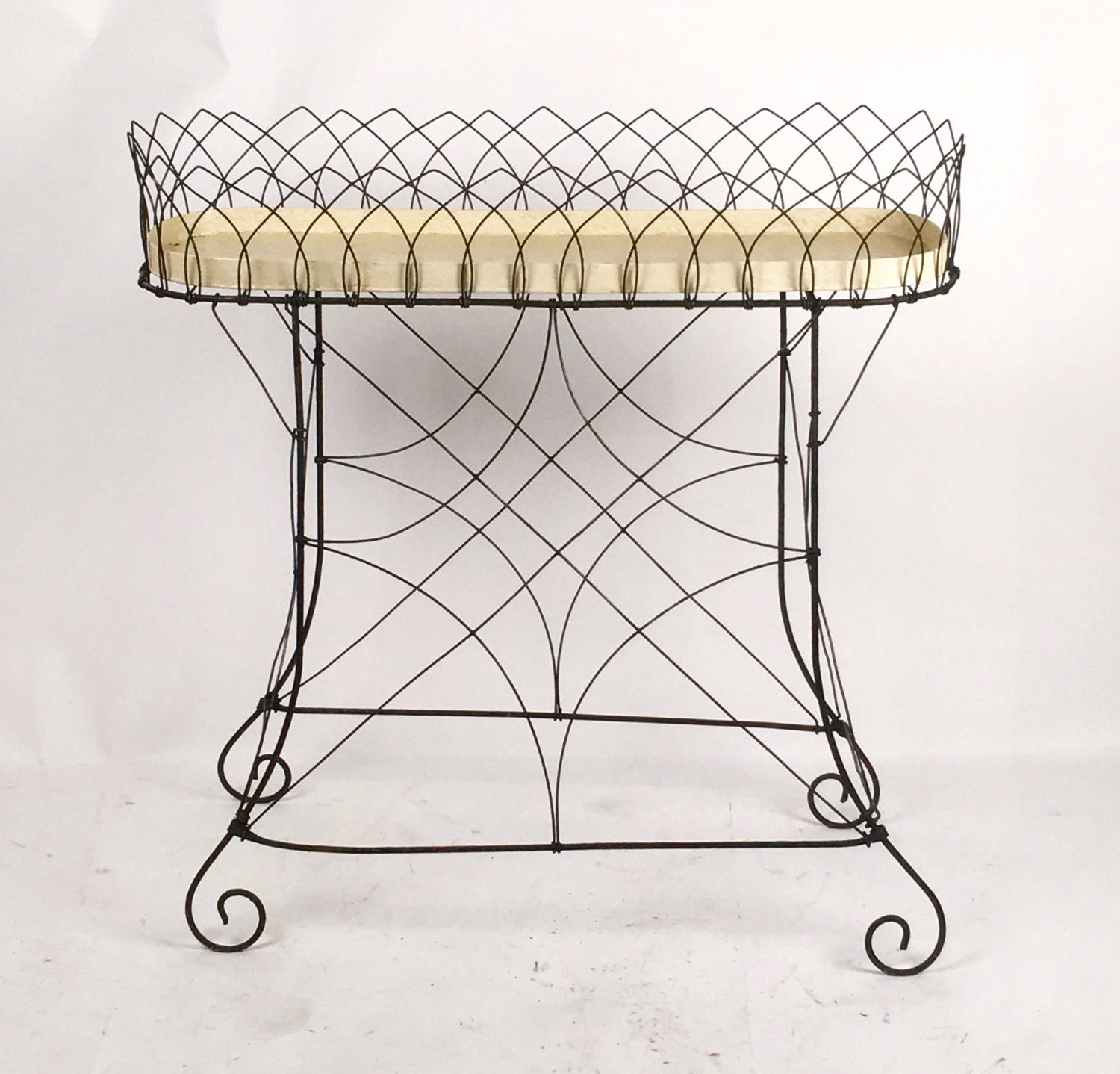 Antique Victorian wirework jardiniere or planter