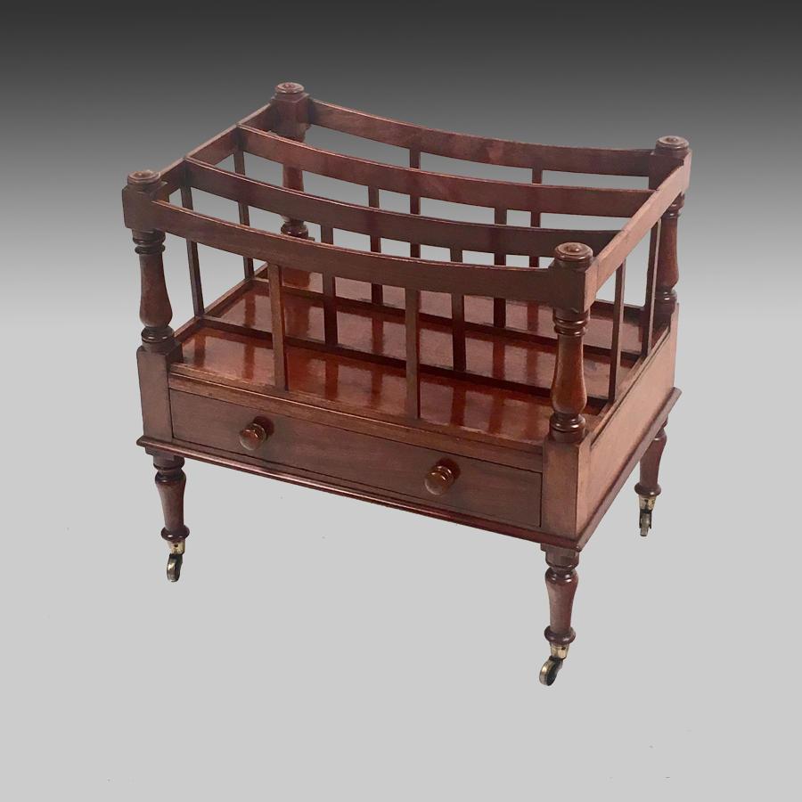 Antique Georgian mahogany canterbury