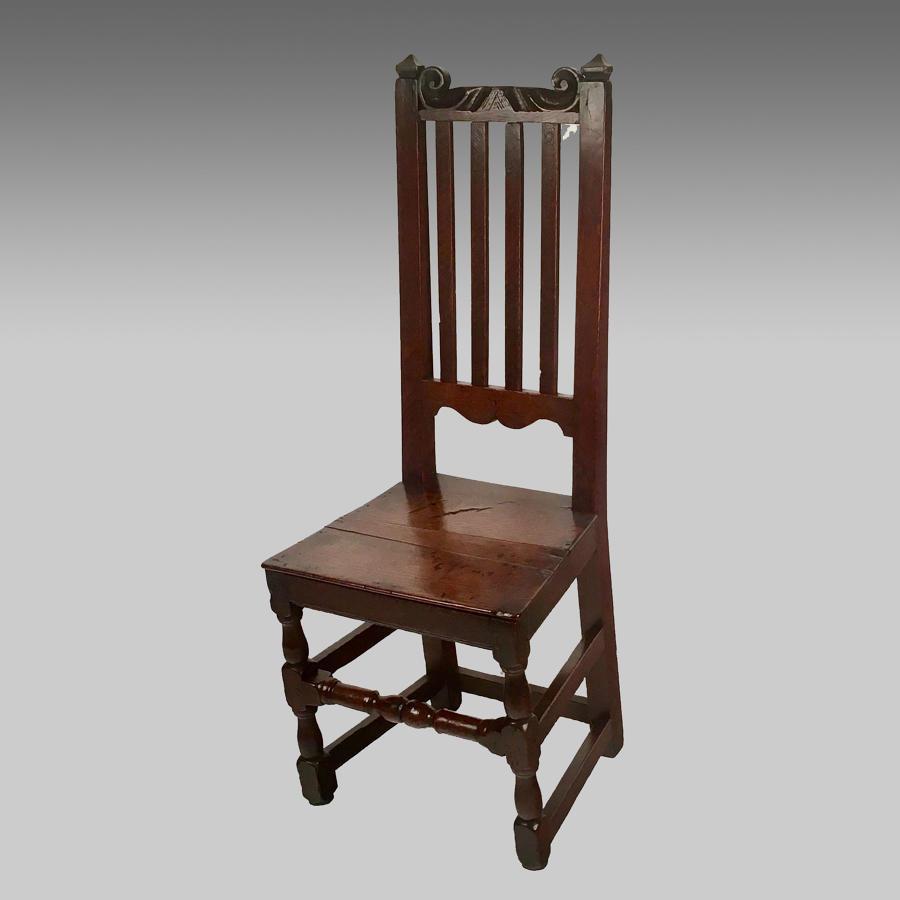 17th century, Charles 11 oak single chair