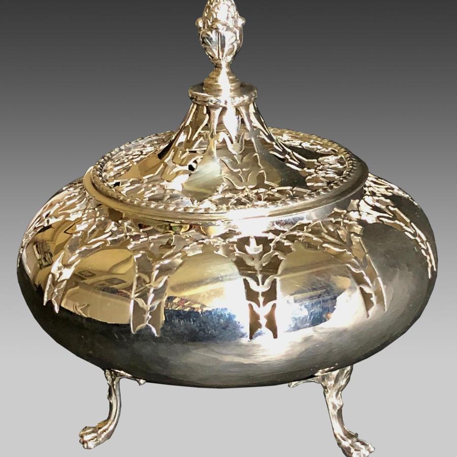 Vintage Edwardian silver pomander