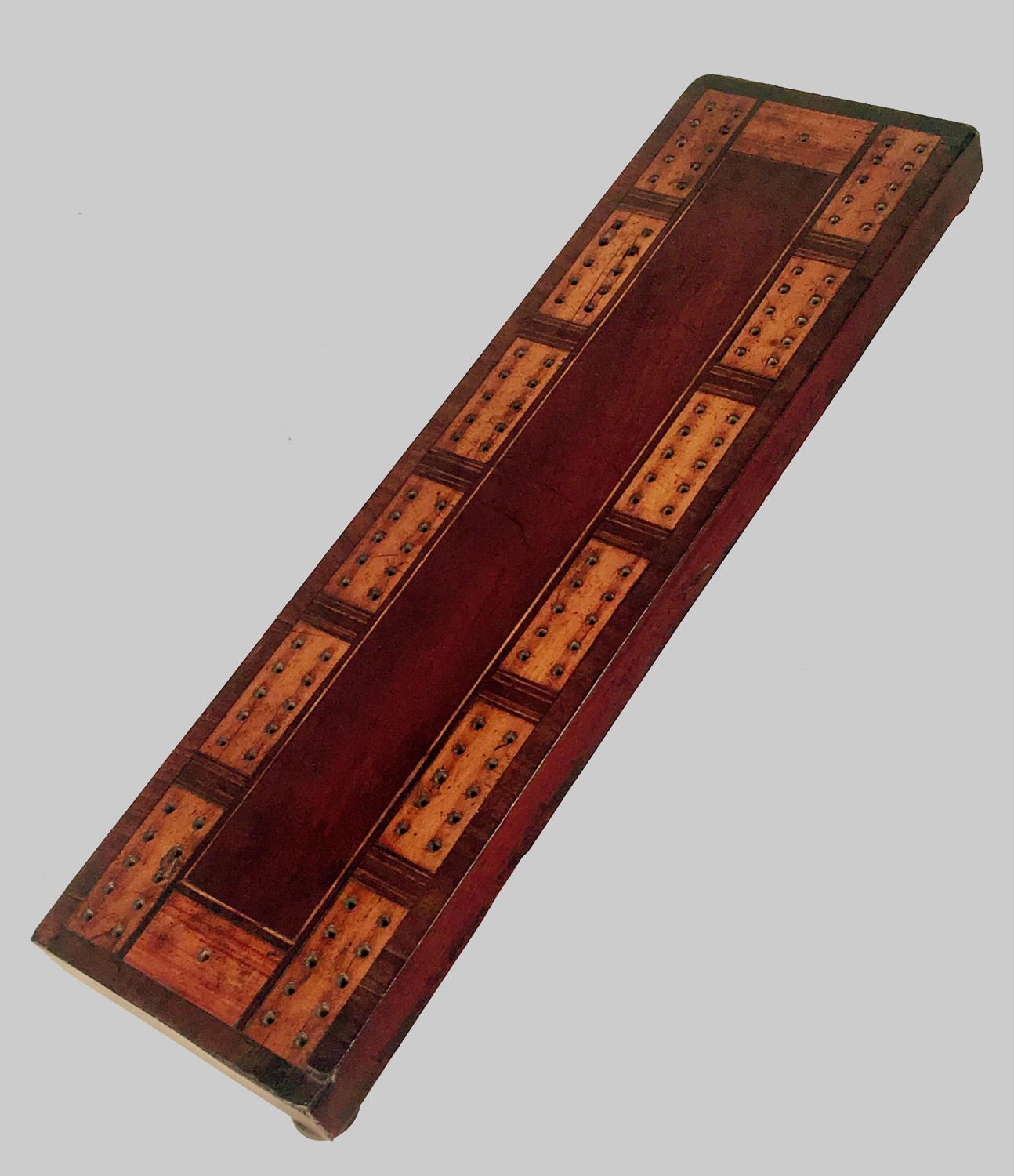 19th century cribbage board of exceptional size