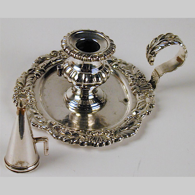 Georgian cast silver chamberstick