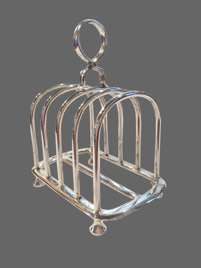 Antique English Sterling silver toast rack