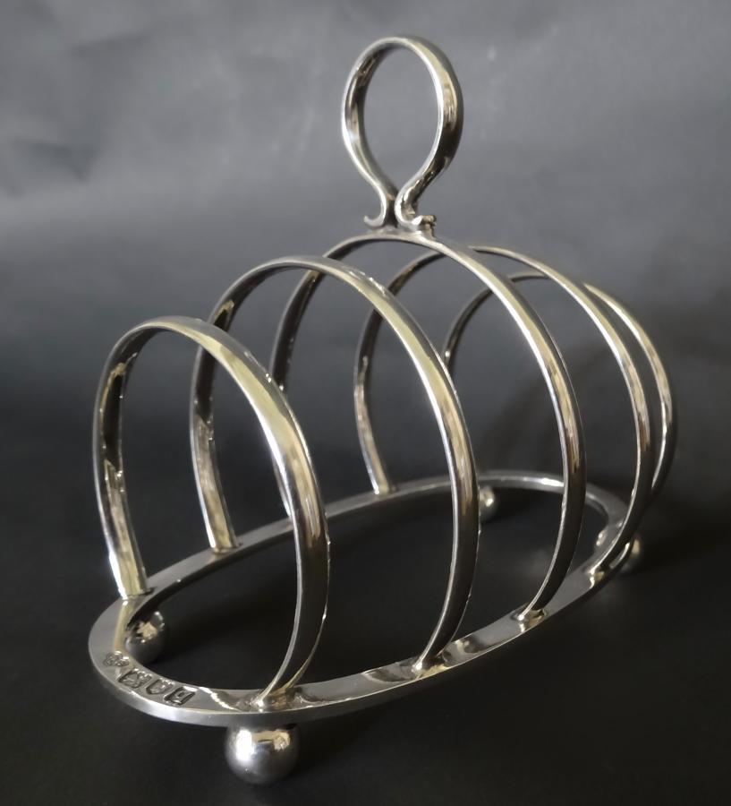 Vintage English silver toast rack