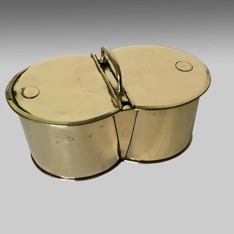 Very fine chef's portable brass cool box