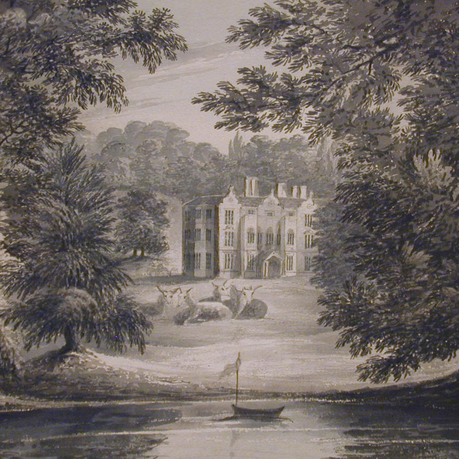 Pair of Landscapes of Northwick Park by the Hon. Harriet Rushout