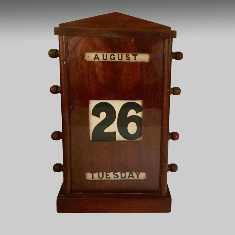 Edwardian mahogany cased perpetual calendar