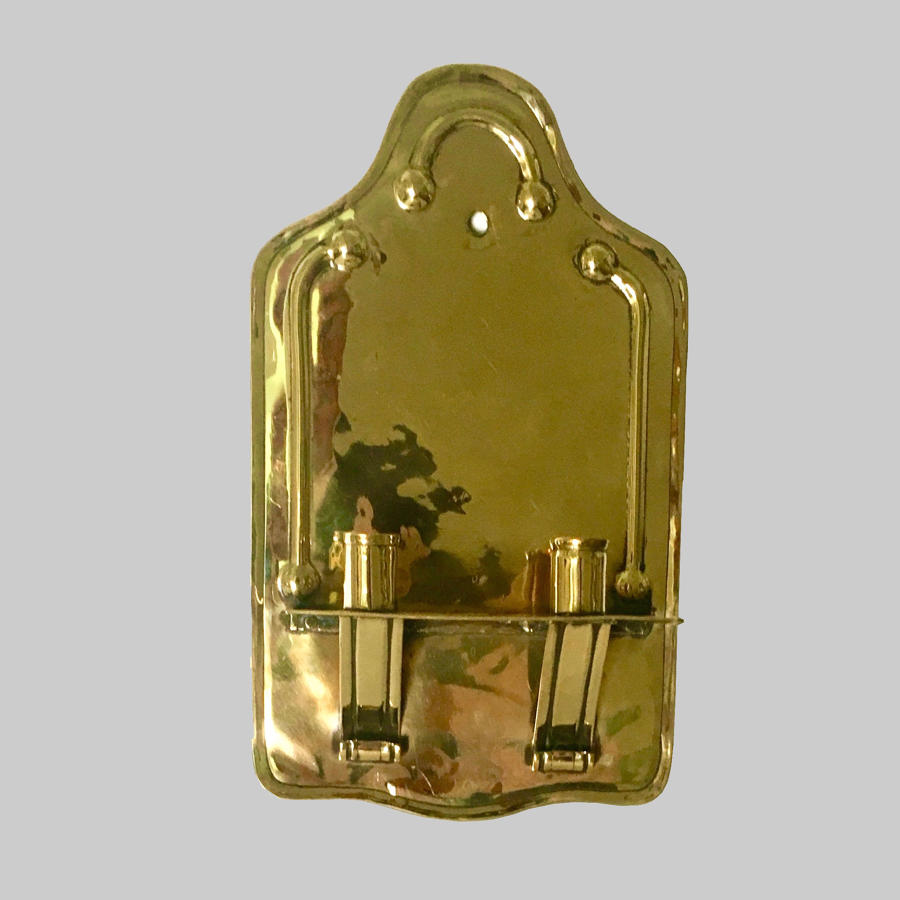 19th century brass wall sconce