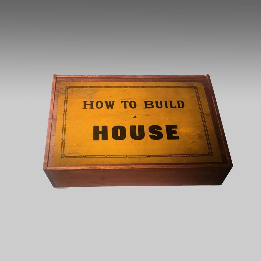 Edwardian vintage boxed building game