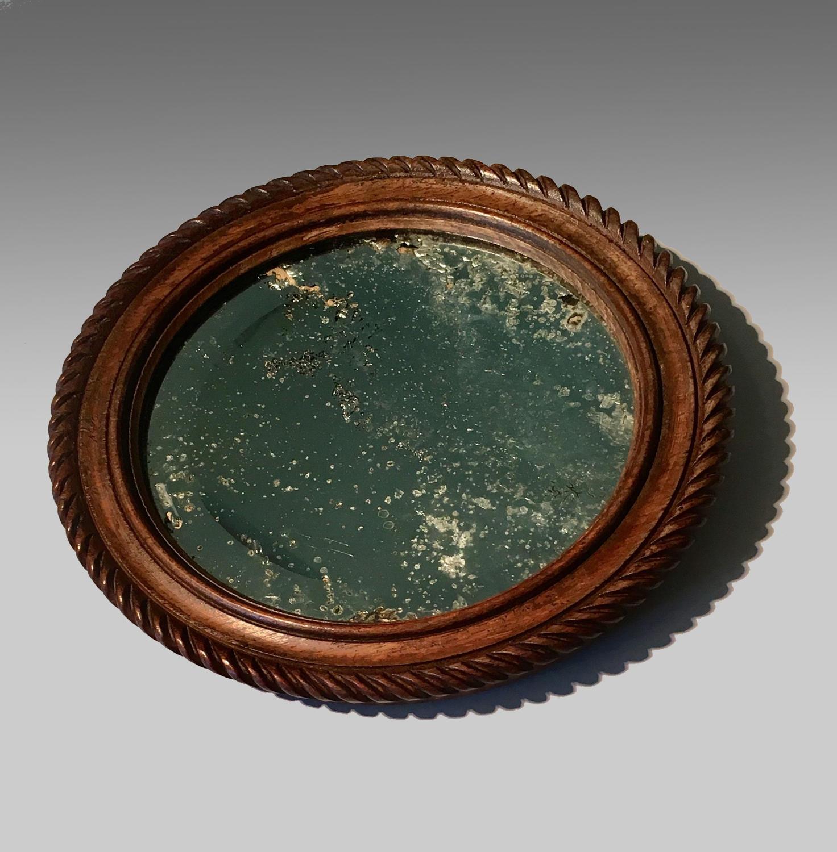 Vintage HMS Ganges teak mirror