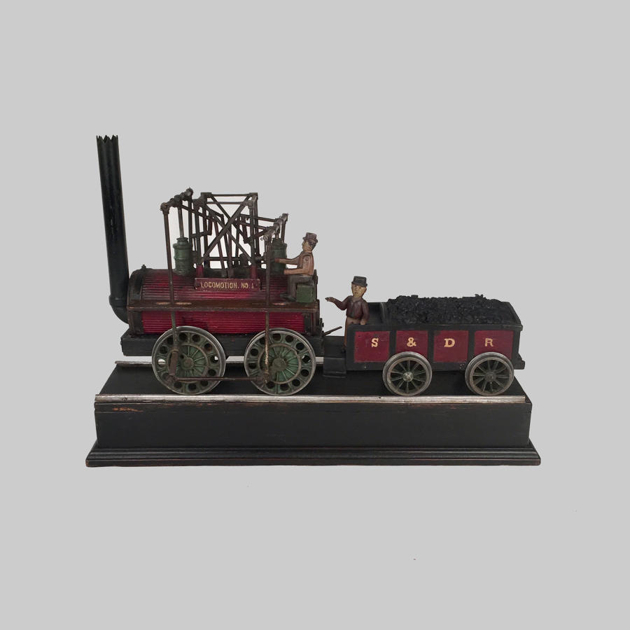 Naive model of a steam engine 'Locomotion No.1'