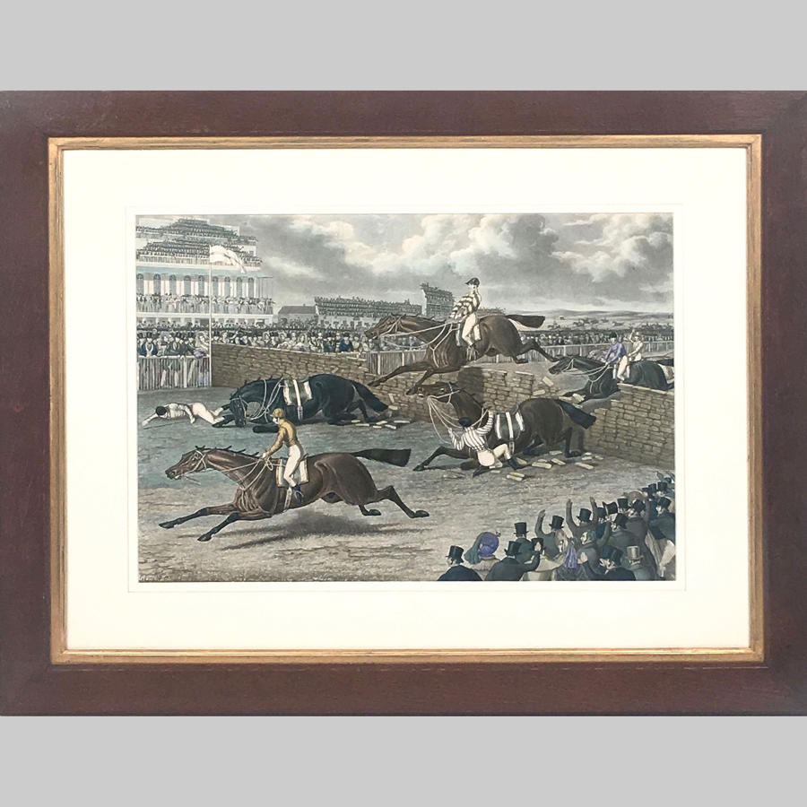 19th century aquatint 'Liverpool Grand Steeple Chase'