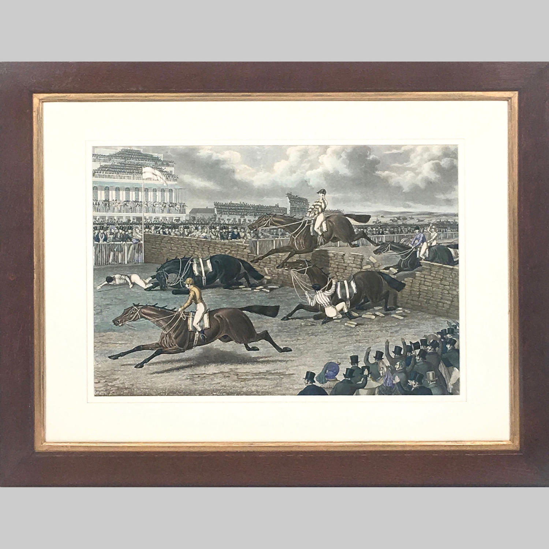 19th century aquatint 'Liverpool Grand Steeple Chase'