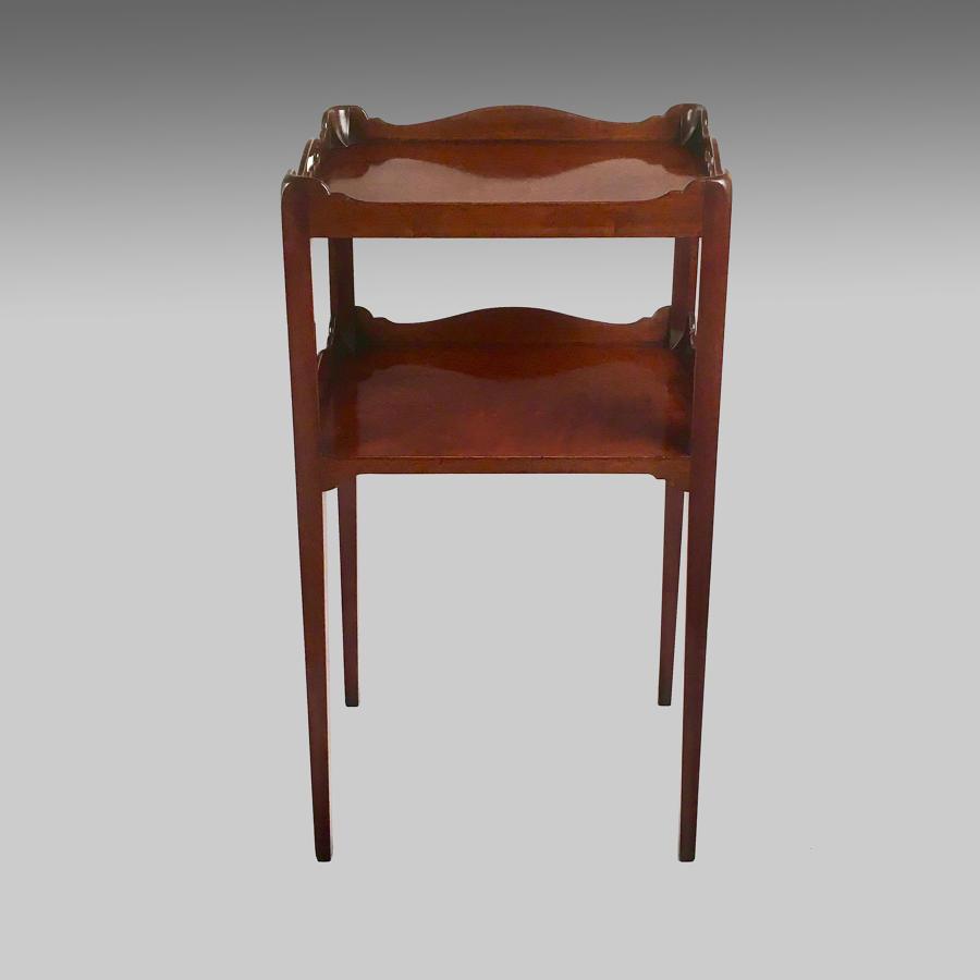 Vintage mahogany tray-top cabinet