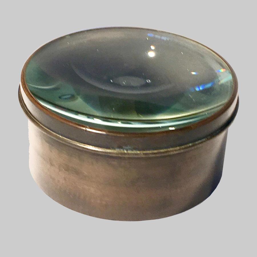 Vintage brass mounted magic lantern condensing lens