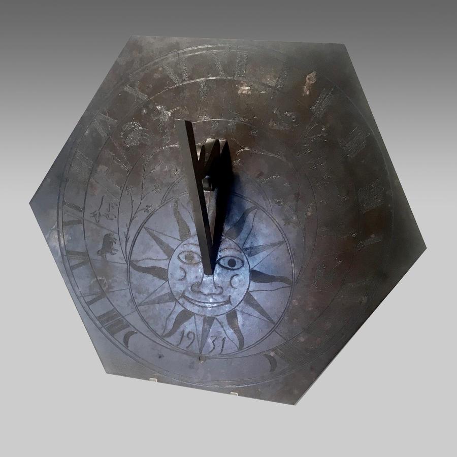 Arts & Crafts brass sundial