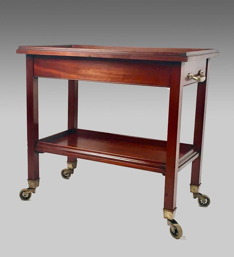 Edwardian mahogany Gueridon or serving trolley