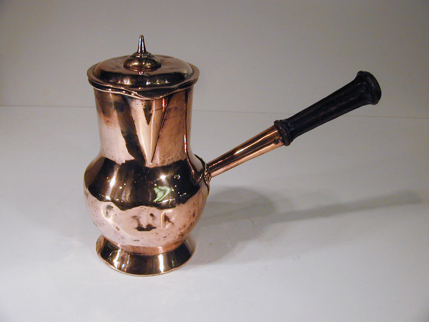 Rare antique 18th century copper chocolate pot